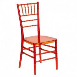 MFO Friendly Elegance Crystal Crimson Stacking Chiavari Chair