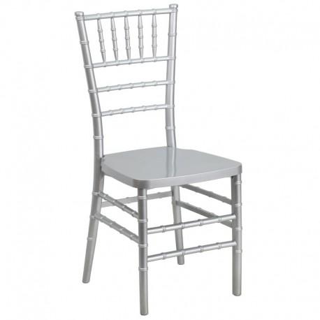 MFO Silver Resin Stacking Chiavari Chair