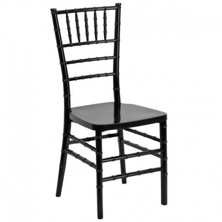 MFO Black Resin Stacking Chiavari Chair