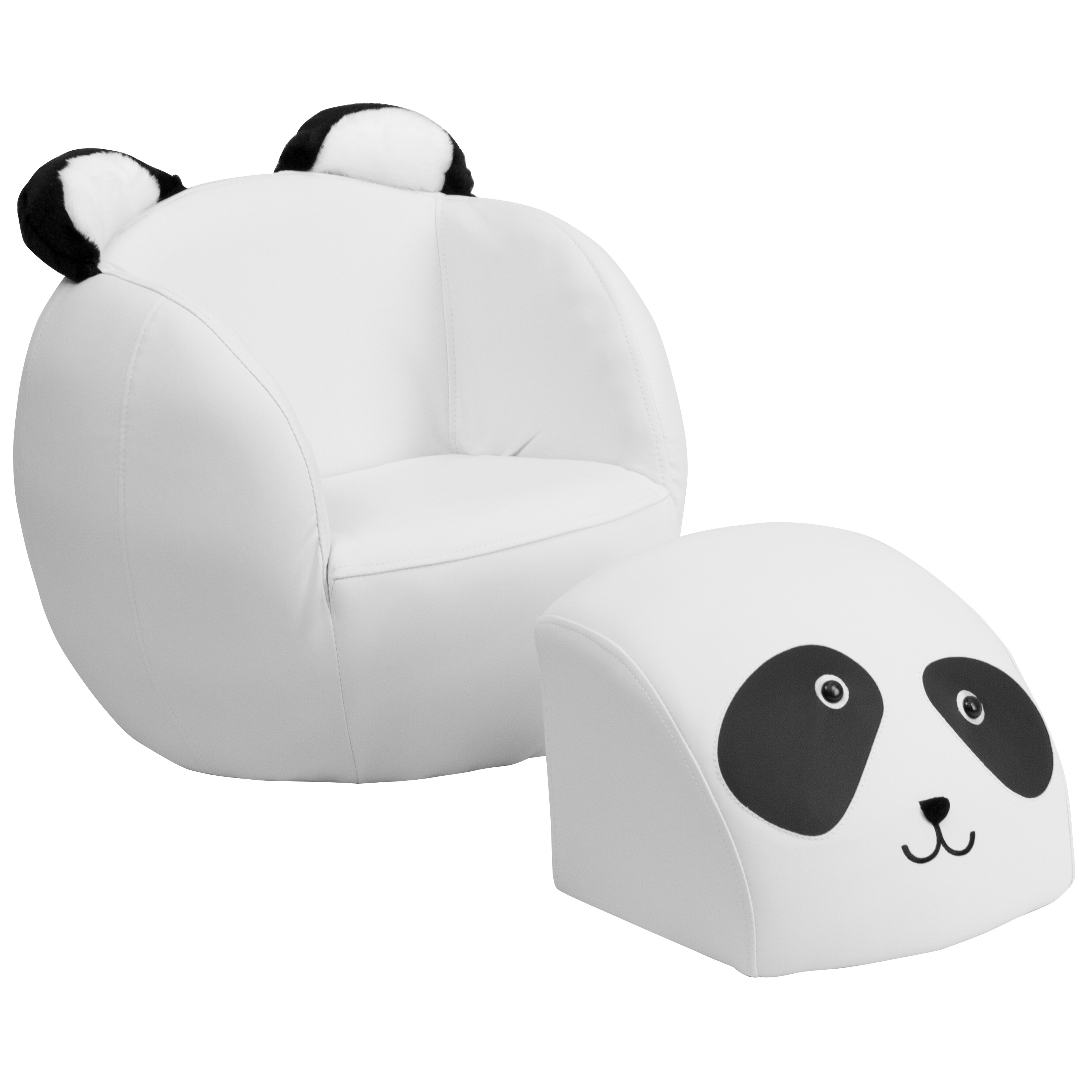 Astonishing Mfo Kids Panda Chair And Footstool Gmtry Best Dining Table And Chair Ideas Images Gmtryco