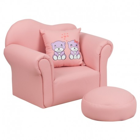 MFO Kids Pink Chair and Footrest