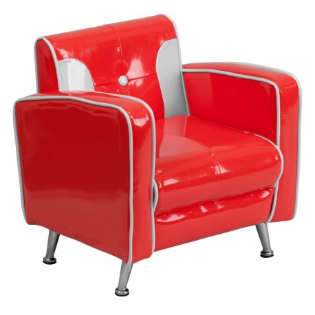 MFO Kids Red and White Chair