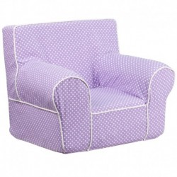 MFO Small Lavender Dot Kids Chair with White Piping