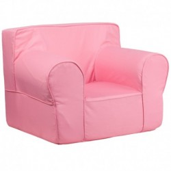 MFO Oversized Solid Light Pink Kids Chair