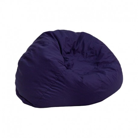 MFO Small Solid Navy Blue Kids Bean Bag Chair