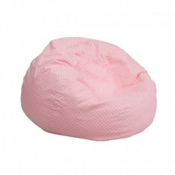 MFO Small Light Pink Dot Kids Bean Bag Chair