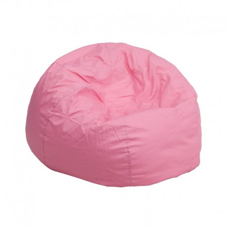 MFO Small Solid Light Pink Kids Bean Bag Chair