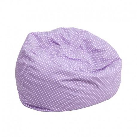 MFO Small Lavender Dot Kids Bean Bag Chair