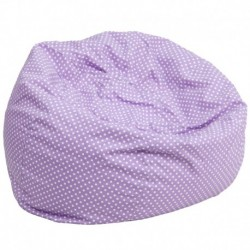 MFO Oversized Lavender Dot Bean Bag Chair