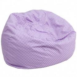 MFO Oversized Lavender Dot Bean Bag Chair