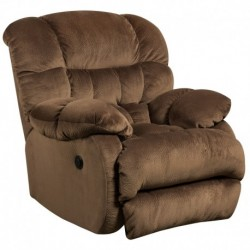 MFO Contemporary Sharpei Espresso Microfiber Power Recliner with Push Button