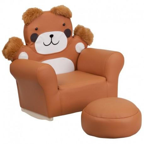 MFO Kids Bear Rocker Chair and Footrest