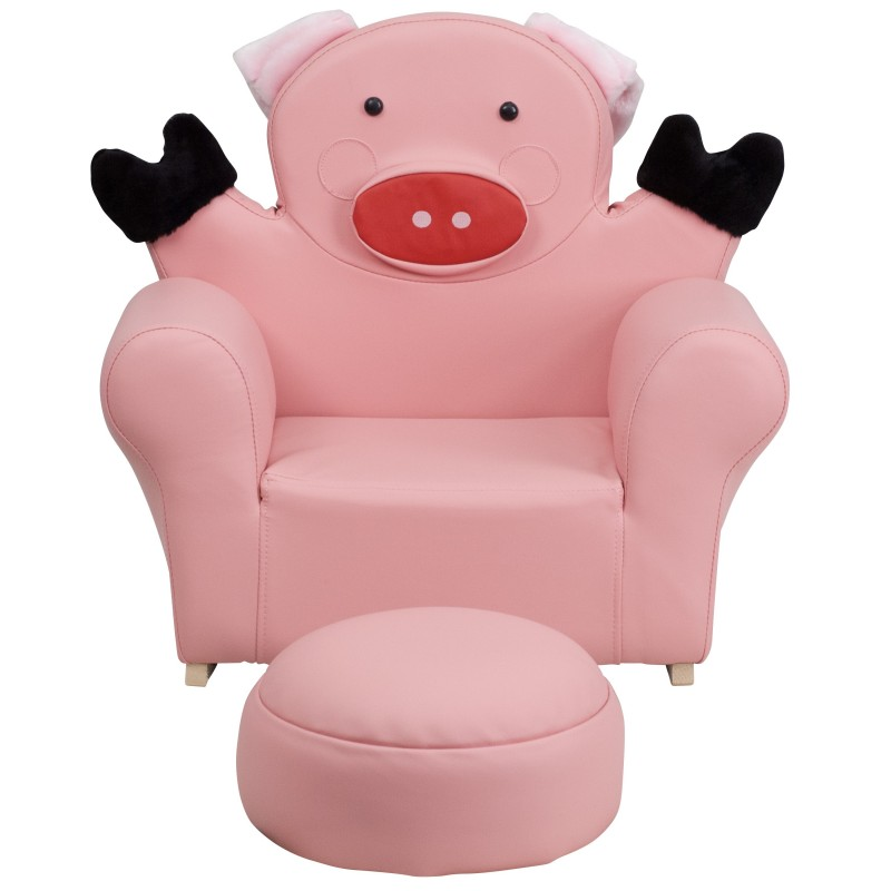 Mfo Kids Pig Rocker Chair And Footrest