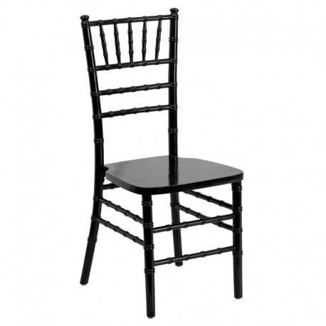 MFO Friendly Elegance Supreme Black Wood Chiavari Chair