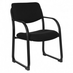 MFO Black Fabric Executive Side Chair with Sled Base