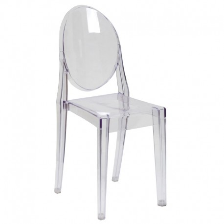 MFO Ghost Side Chair in Transparent Crystal