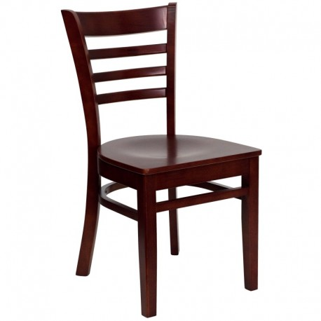 MFO Mahogany Finished Ladder Back Wooden Restaurant Chair