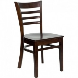 MFO Walnut Finished Ladder Back Wooden Restaurant Chair