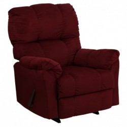 MFO Contemporary Top Hat Berry Microfiber Rocker Recliner