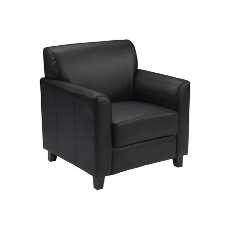 MFO Able Collection Black Leather Chair