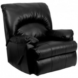 MFO Contemporary Apache Black Leather Rocker Recliner