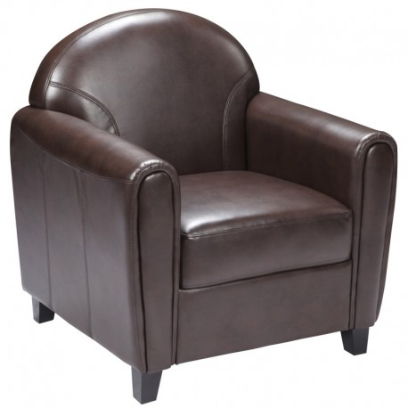 MFO Presidential Collection Brown Leather Chair