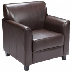 MFO Able Collection Brown Leather Chair