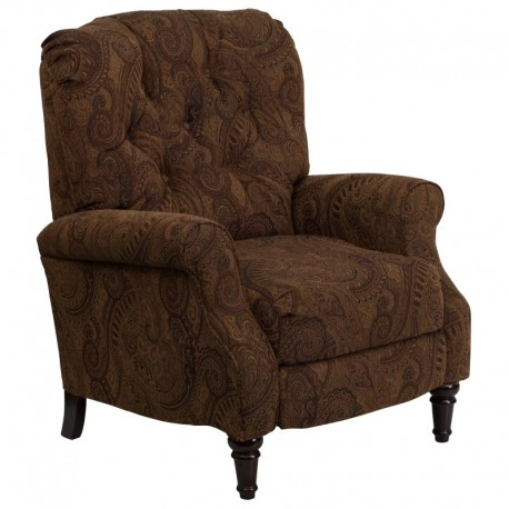 MFO Traditional Tobacco Fabric Tufted Hi-Leg Recliner