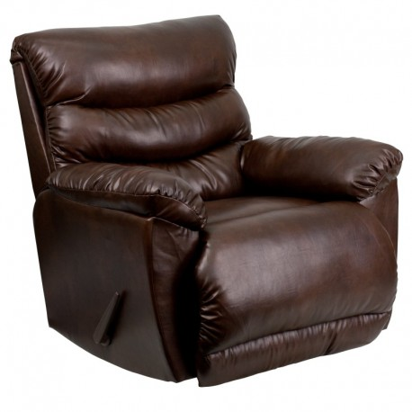 MFO Contemporary Tonto Espresso Bonded Leather Rocker Recliner