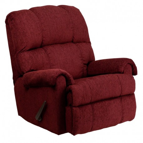 MFO Contemporary Tahoe Burgundy Chenille Rocker Recliner