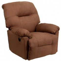 MFO Contemporary Calcutta Chocolate Microfiber Power Chaise Recliner with Push Button