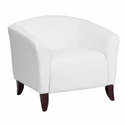 MFO Emperor Collection White Leather Chair