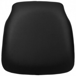 MFO Hard Black Vinyl Chiavari Chair Cushion