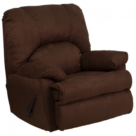 MFO Contemporary Montana Chocolate Microfiber Suede Rocker Recliner