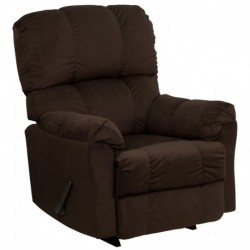 MFO Contemporary Top Hat Chocolate Microfiber Rocker Recliner