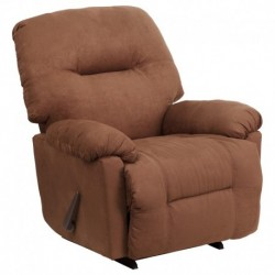 MFO Contemporary Calcutta Chocolate Microfiber Chaise Rocker Recliner