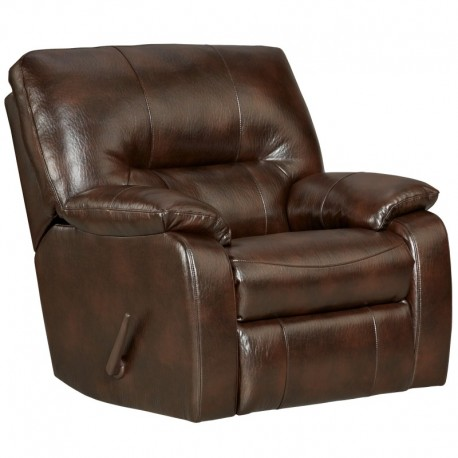 MFO Canyon Chocolate Leather Chaise Rocker Recliner