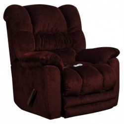 MFO Massaging Temptation Merlot Microfiber Recliner with Heat Control