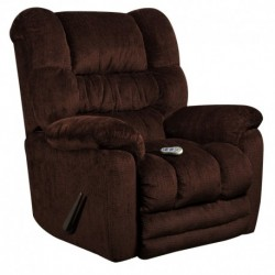 MFO Massaging Temptation Mahogany Microfiber Recliner with Heat Control