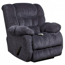 MFO Massaging Columbia Indigo Blue Microfiber Recliner with Heat Control