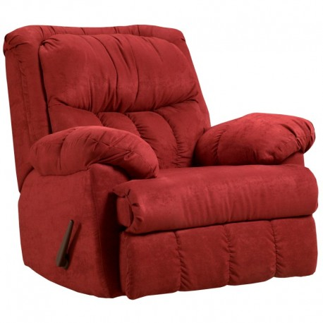 MFO Sensations Red Brick Microfiber Rocker Recliner