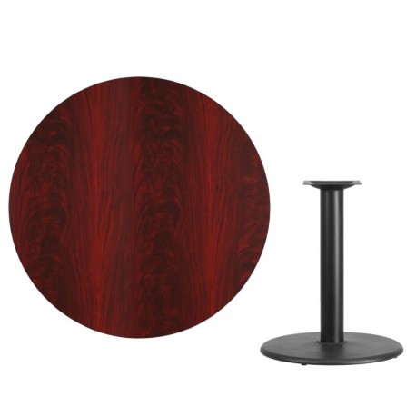 MFO 42'' Round Mahogany Laminate Table Top with 24'' Round Table Height Base