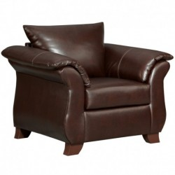 MFO Taos Mahogany Leather Chair