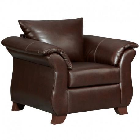 MFO Taos Mahogany Leather Chair