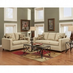 MFO Living Room Set in Vivid Beige Fabric