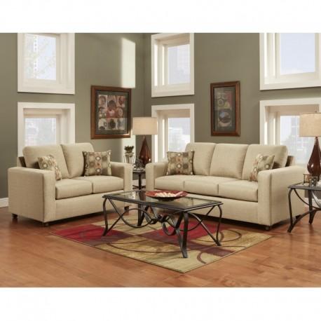 MFO Living Room Set in Vivid Beige Fabric
