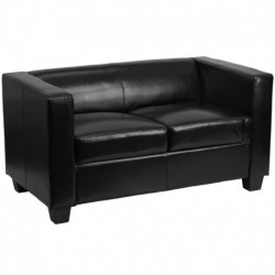 MFO Comfort Collection Black Leather Loveseat