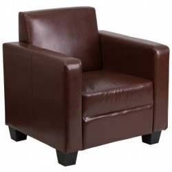 MFO Primo Collection Brown Leather Chair