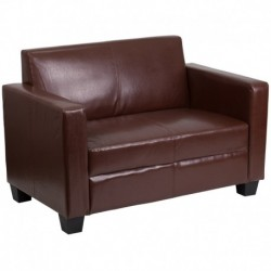 MFO Primo Collection Brown Leather Loveseat