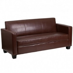 MFO Primo Collection Brown Leather Sofa